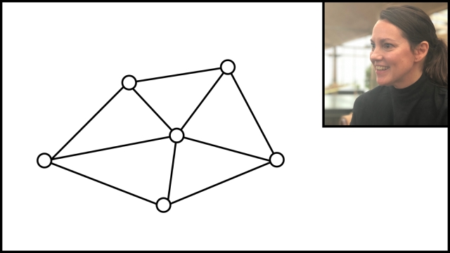 A network diagram where the center hub isn't any more important than the other nodes.